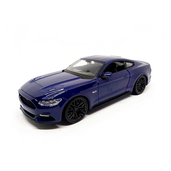 Modelauto Ford Mustang GT 2015 blauw 1:24