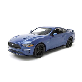 Motormax Ford Mustang GT 2018 blauw - Modelauto 1:24