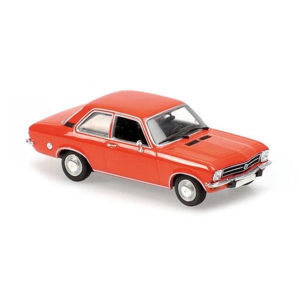 Modelauto Opel Ascona 1970 rood 1:43 | Maxichamps