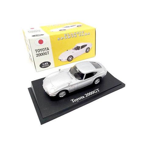 Toyota 2000GT zilver - Modelauto 1:43