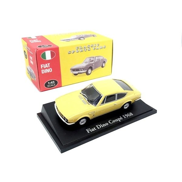 Model car Fiat Dino Coupe 1968 light yellow 1:43