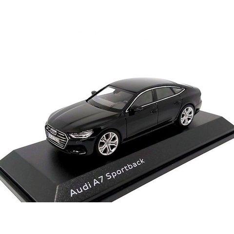 Audi A7 Sportback 2017 Mythos zwart - Modelauto 1:43