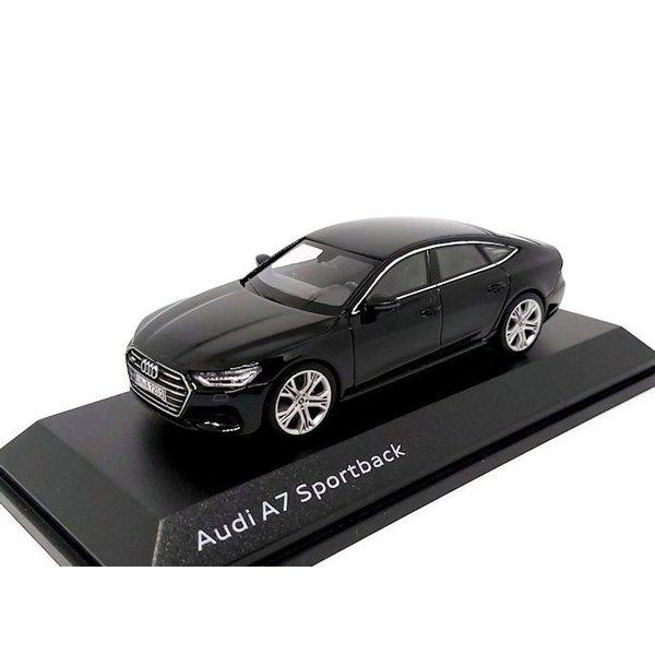 Modelauto Audi A7 Sportback 2017 Mythos zwart 1:43