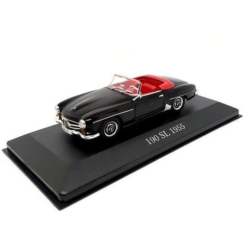 Modelauto Mercedes Benz 190 SL 1955 zwart 1:43