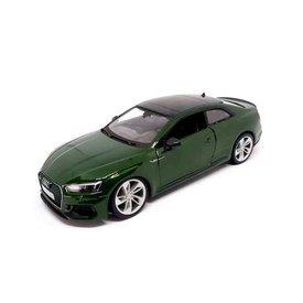 Bburago | Modelauto Audi RS5 Coupe groen metallic 1:24