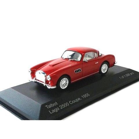 Talbot Lago 2500 Coupe 1955 rood - Modelauto 1:43