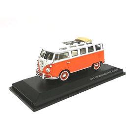 Lucky Diecast Volkswagen VW T1 Microbus 1962 oranje/wit - Modelauto 1:43