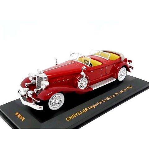 Chrysler Imperial Le Baron Phaeton 1933 rood - Modelauto 1:43