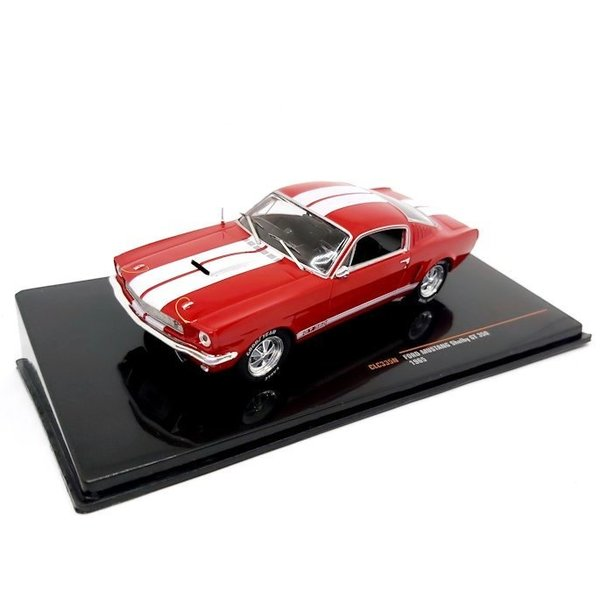 Modellauto Ford Mustang Shelby GT350 1965 rot/weiß 1:43
