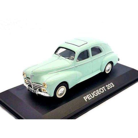 Peugeot 203 light green - Model car 1:43