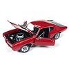 Modellauto Pontiac GTO Royal Bobcat 1968 rot/schwarz 1:18
