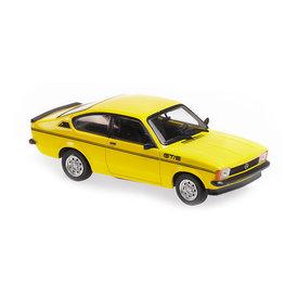 Maxichamps Opel Kadett C GT/E 1978 geel - Modelauto 1:43