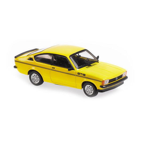 Model car Opel Kadett C GT/E 1978 yellow 1:43 | Maxichamps