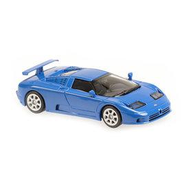 Maxichamps Model car Bugatti EB 110 1994 blue 1:43