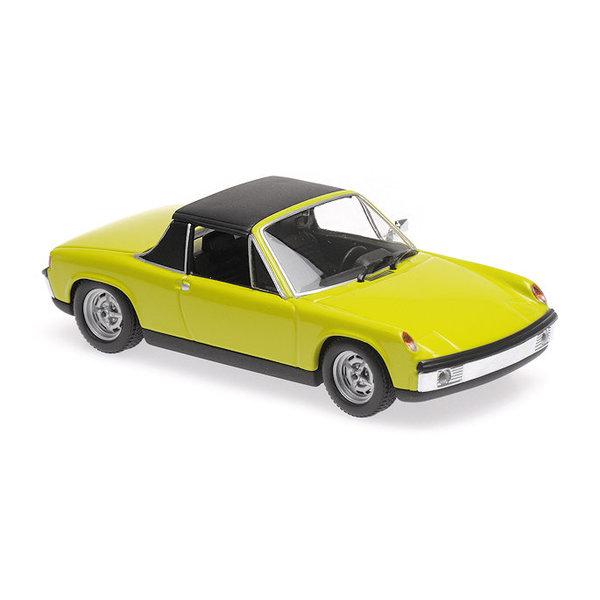 Model car Volkswagen Porsche 914/4 1972 green 1:43