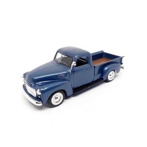 GMC Pick up 1950 blauw metallic - Modelauto 1:43