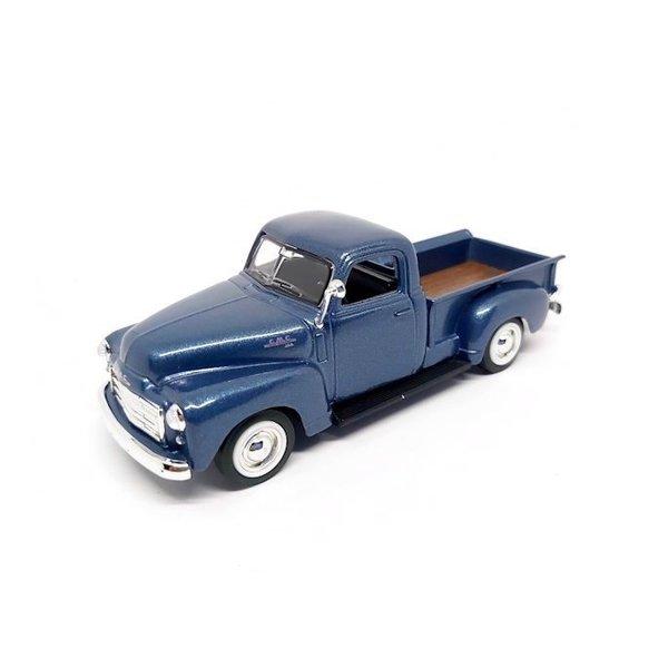 GMC Pick up 1:43 blauw metallic 1950 | Lucky Diecast