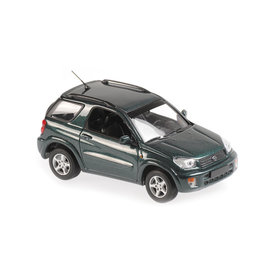 Maxichamps | Model car Toyota RAV4 2000 dark green metallic 1:43