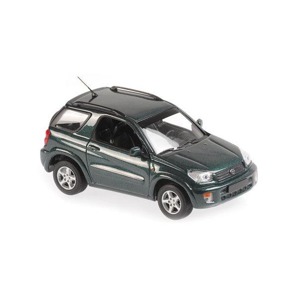 Model car Toyota RAV4 2000 dark green metallic 1:43   Maxichamps