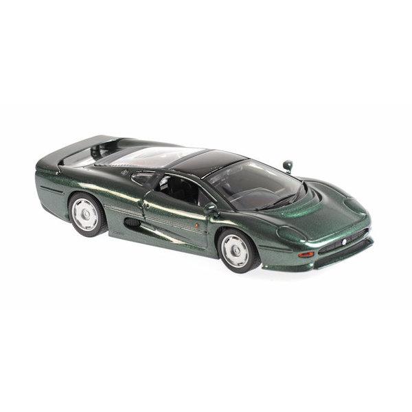 Model car Jaguar XJ220 1991 green metallic 1:43   Maxichamps