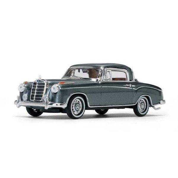 Modelauto Mercedes Benz 220 SE Coupe 1959 grijs metallic 1:43