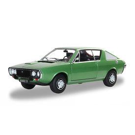 Solido Renault 17 Mk 1 1976 groen metallic - Modelauto 1:18