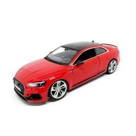 Bburago Audi RS5 Coupe rood - Modelauto 1:24