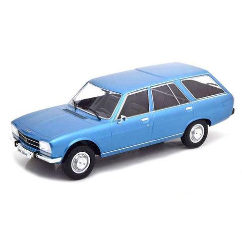 Peugeot 504 Break 1976 blauw metallic - Modelauto 1:18