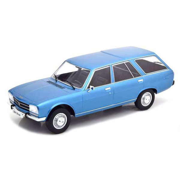 Modelauto Peugeot 504 Break 1976 blauw metallic 1:18