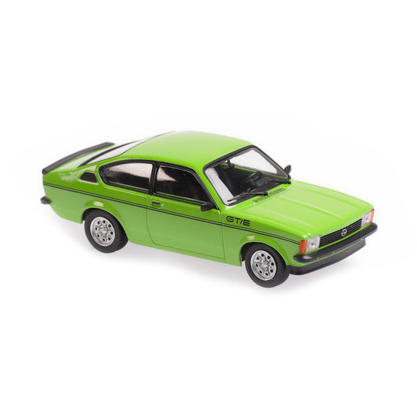 Modelauto Opel Kadett C GT/E 1978 groen 1:43   Maxichamps