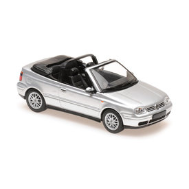 Maxichamps   Model car Volkswagen Golf IV Cabriolet 1998 silver 1:43