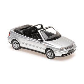 Maxichamps Volkswagen Golf IV Cabriolet 1998 zilver - Modelauto 1:43