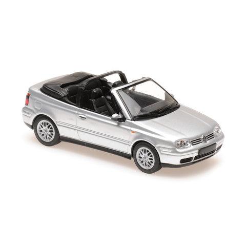 Volkswagen Golf IV Cabriolet 1998 zilver - Modelauto 1:43