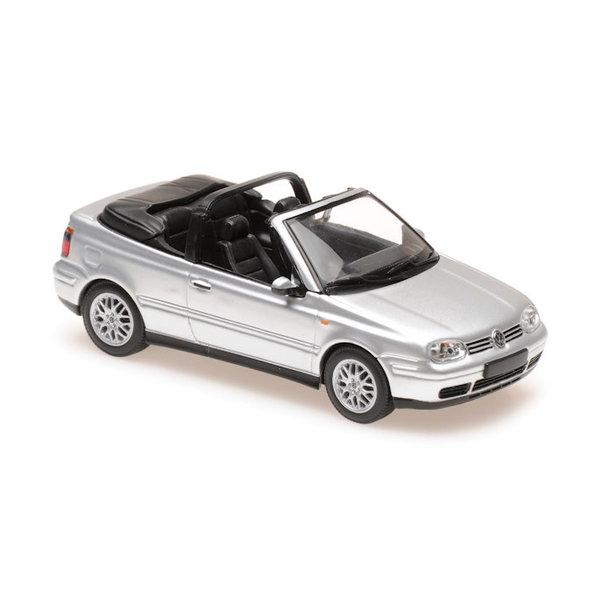 Model car Volkswagen Golf IV Cabriolet 1998 silver 1:43   Maxichamps