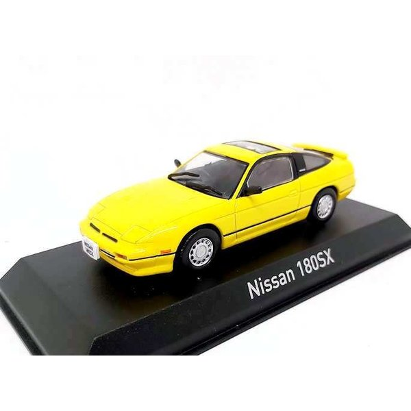 Modelauto Nissan 180SX 1989 geel 1:43