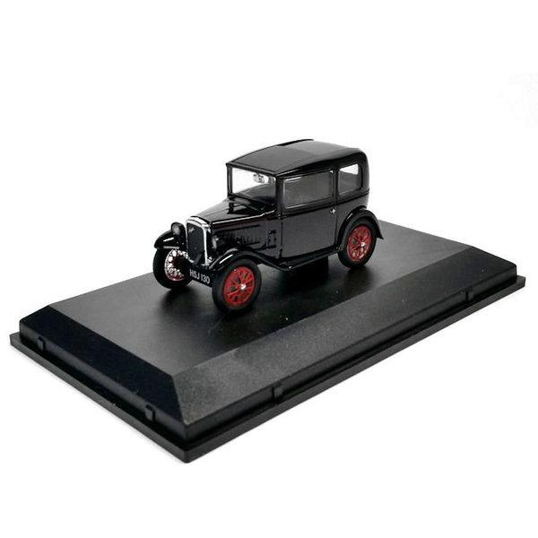 Modelauto Austin Seven RN Saloon zwart/rood 1:43   Oxford Diecast