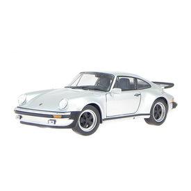 Welly Porsche 911 Turbo 1974 silver - Model car 1:24