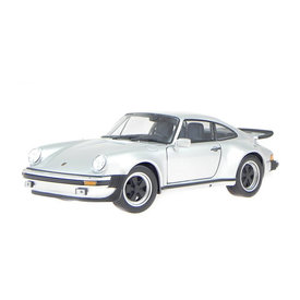Welly Porsche 911 Turbo 1974 zilver - Modelauto 1:24