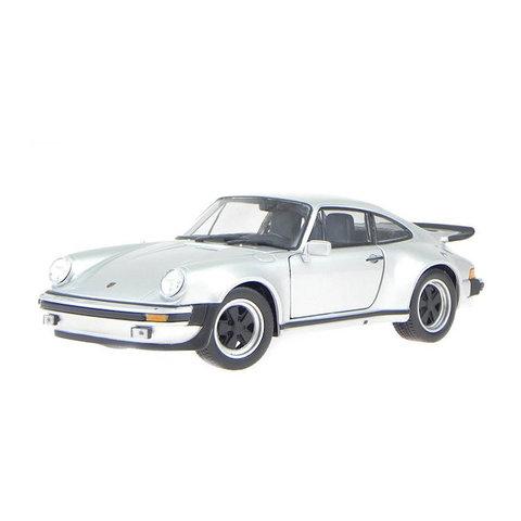 Porsche 911 Turbo 1974 zilver - Modelauto 1:24