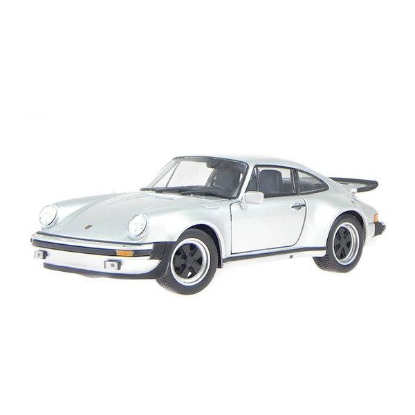 Modelauto Porsche 911 Turbo 1974 zilver 1:24