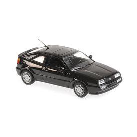 Maxichamps Volkswagen Corrado G60 1990 zwart - Modelauto 1:43