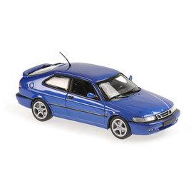 Maxichamps Saab 9-3 Viggen 1999 blauw metallic - Modelauto 1:43