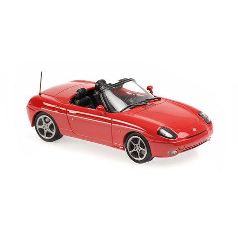 Fiat Barchetta 1995 rood - Modelauto 1:43