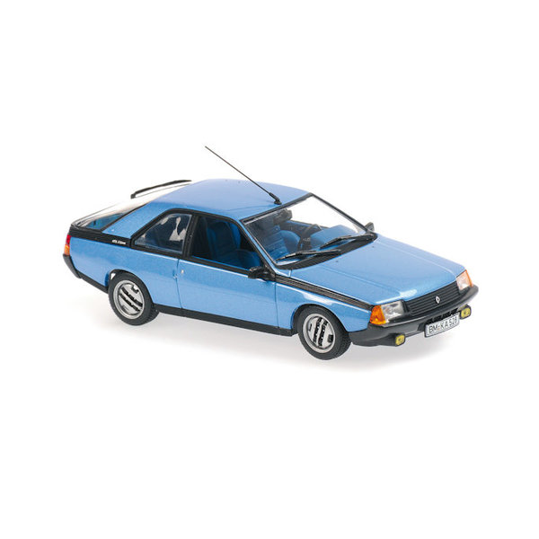 Modellauto Renault Fuego 1984 blau metallic 1:43