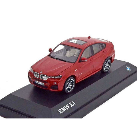 BMW X4 (F26) 2015 rood metallic - Modelauto 1:43