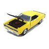 Model car Dodge Coronet Super Bee 1969 yellow/black 1:24