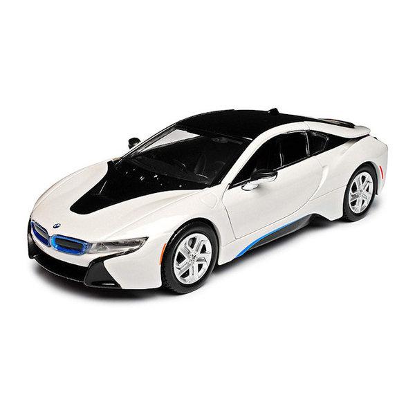 Modellauto BMW i8 Coupe 2018 weiß 1:24