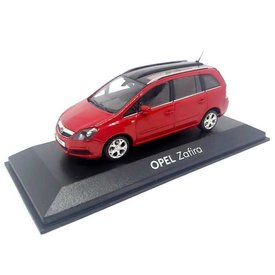 Minichamps Model car Opel Zafira 2007 red 1:43