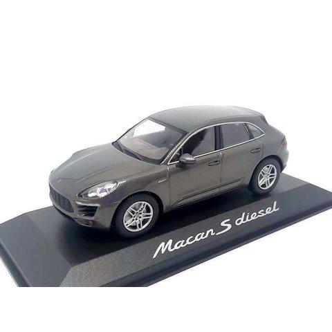 Porsche Macan S Diesel 2013 agaat grijs - Modelauto 1:43