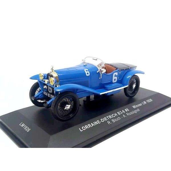 Modelauto Lorraine-Dietrich B3-6 No. 6 1926 blauw 1:43